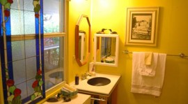 Yellow Bathroom Wheelchair Friendly Sink